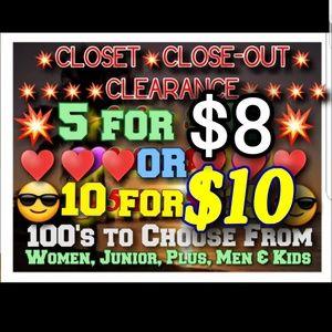 Pants - 💥5/$8 or 10/$10💥CLOSEOUT SALE💥50% OFF BUNDLES💥
